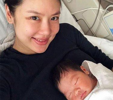 黎明38岁前妻乐基儿宣布产子母子