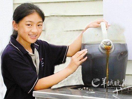 """华裔少女变""""地沟油""""为宝 受奥巴马接见"""