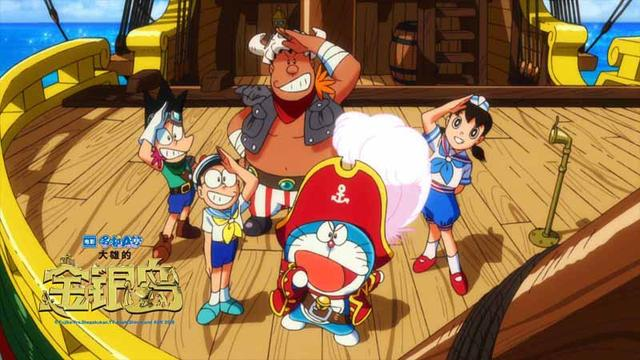 """《哆啦a梦:大雄的金银岛》今天曝光了定档海报及""""全新伙伴迷你哆啦"""""""