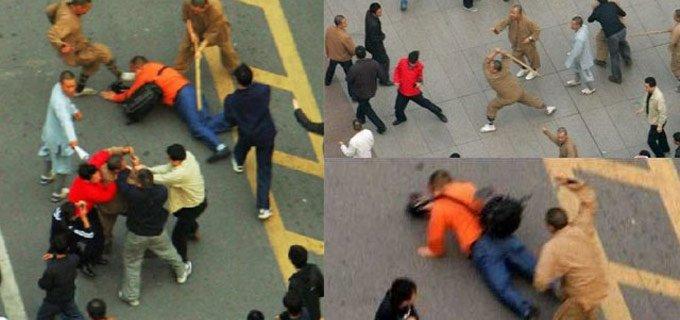 五台山僧人群殴女游客 女子称遭锤斧劈砸