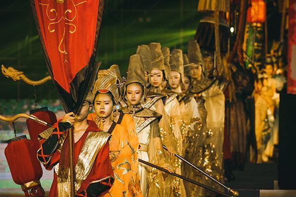 组图:《诗汇长安》大明宫上演 大西安开启文武双全模式