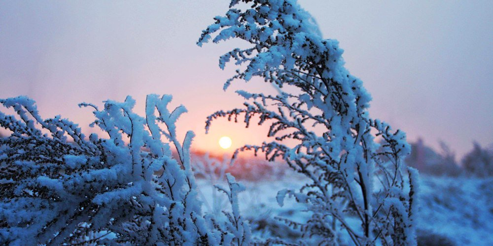 光头山白雪雾凇美如画