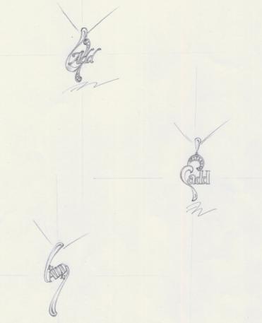 欧式首饰手绘图