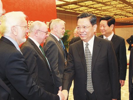 赵乐际会见诺贝尔奖获得者 欢迎科学家来陕