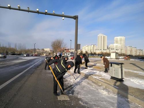 清雪除冰 防灾减损·太平财险榆林市分公司在行动