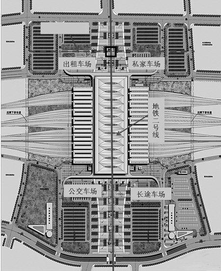 火车北站成西安新地标 铁路地铁公交实现零换乘