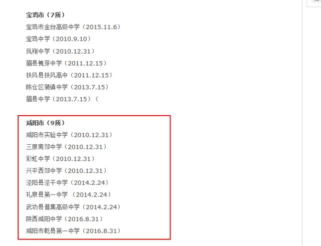 陕西高中省级v高中高中学校出炉济南9所名单上咸阳好职业高中的图片