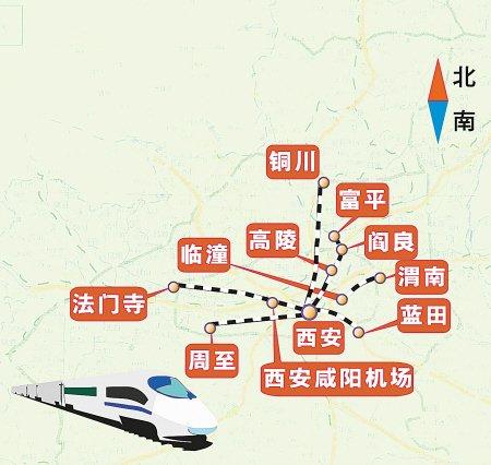 关中城际铁路将建 由西安连接临潼咸阳富平