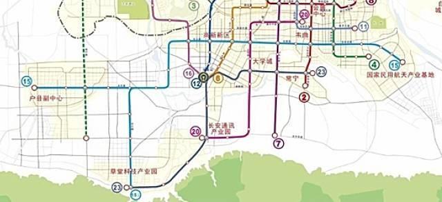 西安地铁6号线等站点曝光 看看哪些站点路过你家