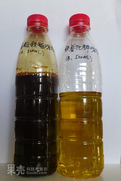 铁氰化钹��:j�9.��d�y��kd_b溶液: 400ml水; 40g铁氰化钾;同样是溶解后用水稀释至500ml备用.