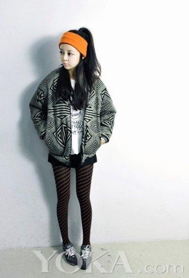显腿细的裤子-螺旋文的打底裤,看起来显得腿会很细,同样,大大的上衣,夹克看起