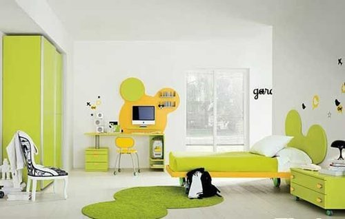 大秦家居 装修案例  正文  欧式风格儿童房装修效果图:上面床铺下面图片