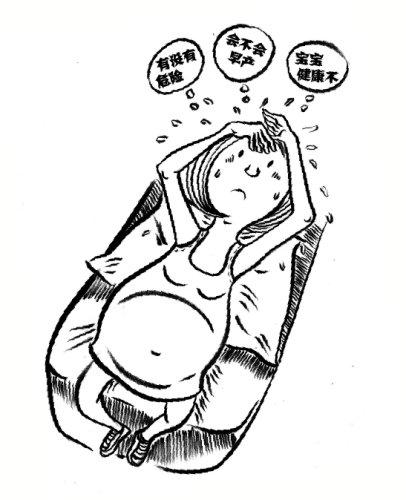 纠结紧张的表情简笔画-八成以上孕妇均存在焦虑 指标全正常也住院保胎