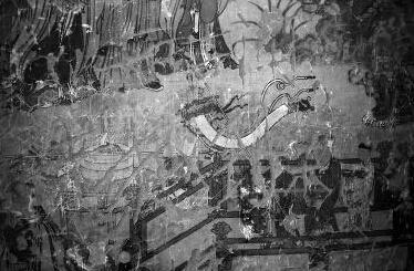 榆林万佛洞明代壁画遭涂鸦 门口仅一老人看门