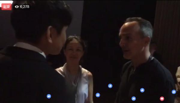 林俊杰现身iPhone8发布会直播公开会场内部照