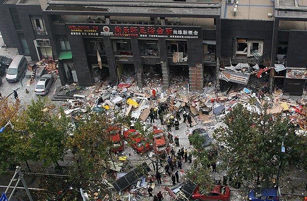西安嘉天国际发生爆炸现场