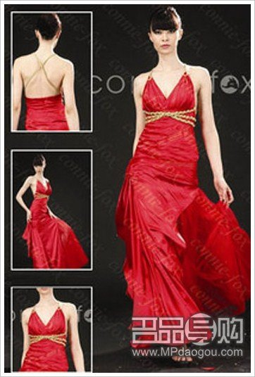 血红色婚纱_范冰冰身着红色妖娆血裙婚纱诱惑100 6