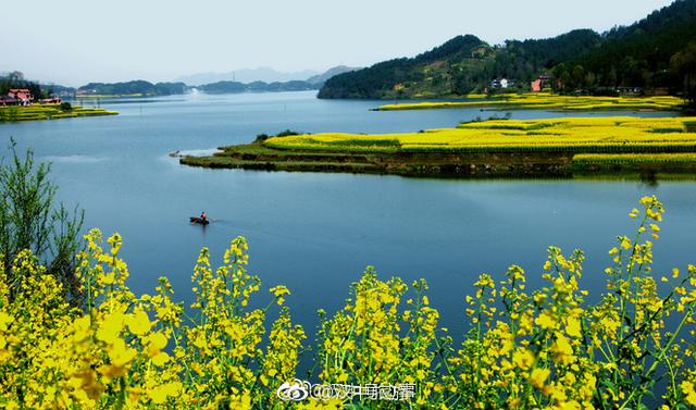 汉中红寺湖景区最美春景