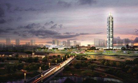西安北大门开建 将成西安标志性新门户形象