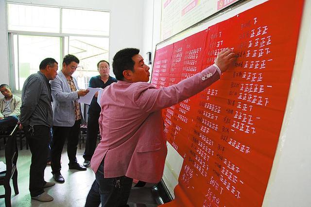 山阳黄家村代表现场投票符合政策扶贫对象64户