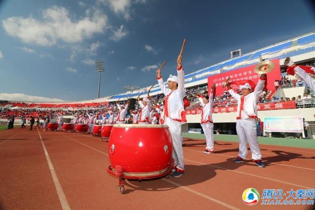 2018榆林市中学生运动会暨校园足球基地学校启动仪式在定边开幕