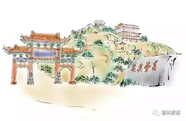 24张手绘图:带你一览神木美食美景