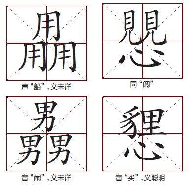 求中国汉字笔画最多的,前10名!就是笔画第一多,到第10图片