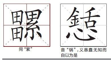 一些生僻字和异形字(图片来源:重庆晨报)-副教授指出笔画最多的