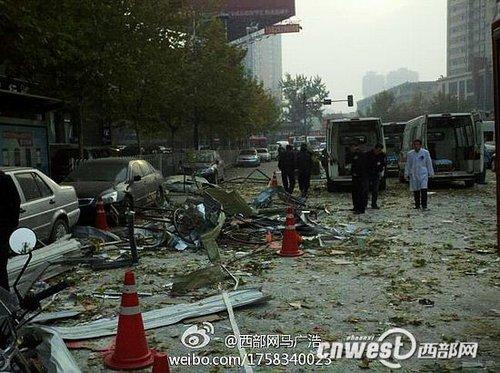 西安科创路餐饮店爆炸 系液化气罐泄漏引发