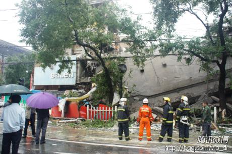 西安东大街华侨商店拆迁楼房发生坍塌1人亡