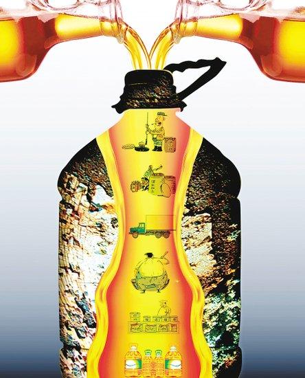 陕西3家黑作坊被端 系公安部摧毁地沟油下线