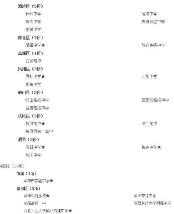 陕西顶尖高级中学名单出炉 延安18所上榜