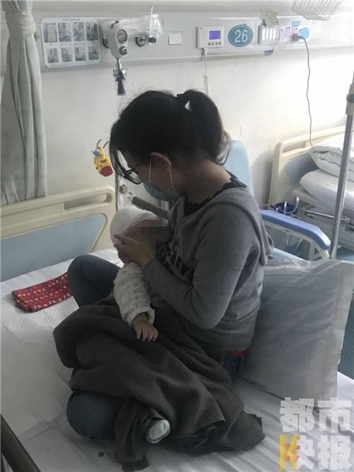 洛南八个月大男婴患重病急需手术 家人盼帮助