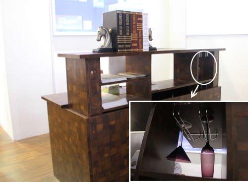 评测:好莱客英伦绅士升降书桌 变身浪漫吧台