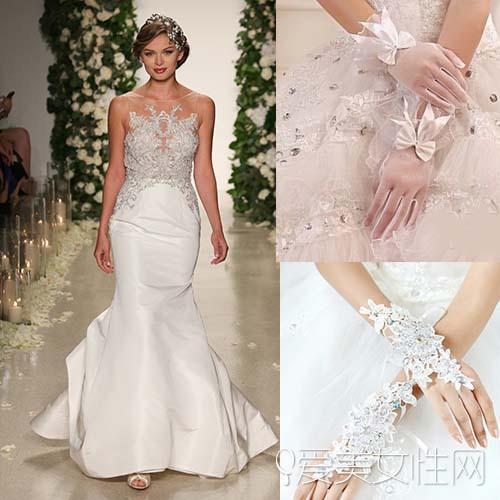 双肩婚纱配什么手套比较好看 婚纱手套搭配方法