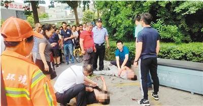 检察官上班路遇歹徒行凶 挺身而出夺刀救人