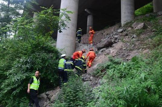 两男子乘摩托上高速 冲出护栏摔下20米高架桥