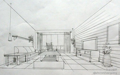 客厅的手稿草稿-120㎡ 素描时光 家居 回归自然纯真风