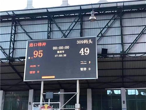洛口锋神旗开得胜 95-49横扫对手