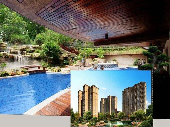 外揽步行商业街,内可以赏苏杭园林,且设有下沉式泳池,白天在亲水平台图片