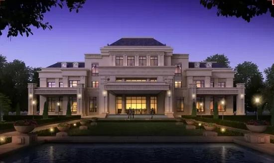 以中式四合院布局为启发,两两围合双拼,赠送一个超大私家庭院,有天有图片