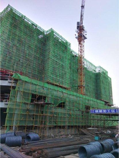 东大时代广场8月份工程进度