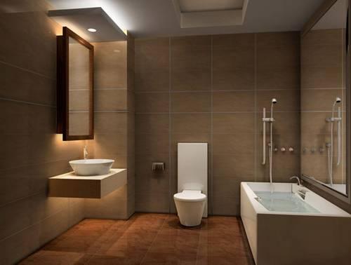 无死角的壁挂卫生间