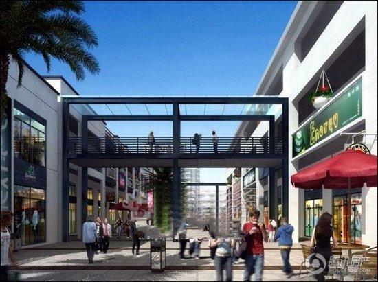 平港首府富有江南特色的精品商业步行街及居住小区
