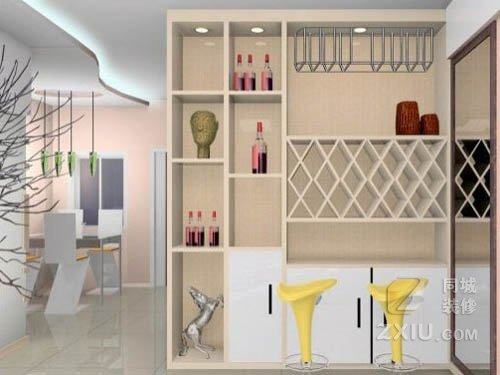 客厅装修酒柜隔断如何设计