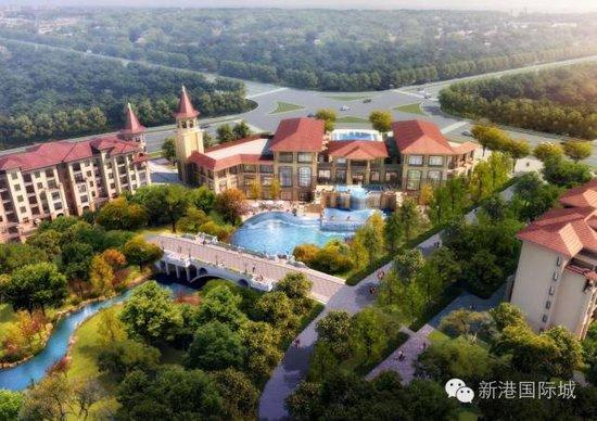 【新港国际城】80-140平花园洋房 超大阳台超大露台