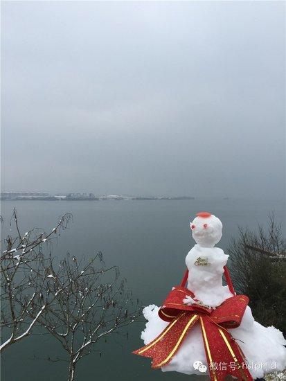 【太平湖】第一场雪,爱雪的孩纸们去金龙岛玩雪了