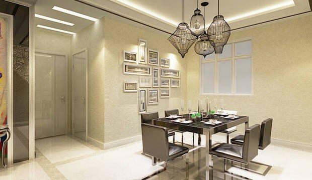现代风格三居室素雅设计