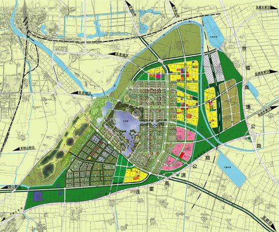 新城区规划图高清图片