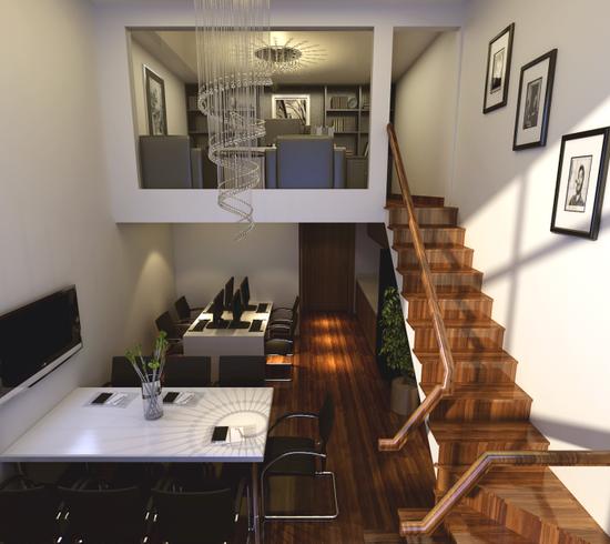 loft双层公寓——办公装修效果